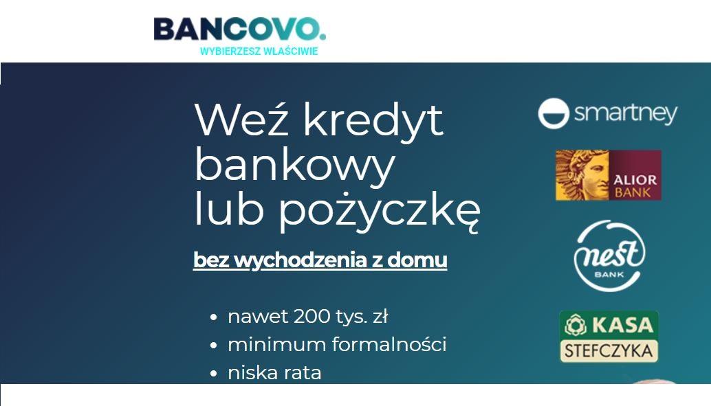 Weź najlepszą pożyczkę Bancovo taniej nawet o 50%