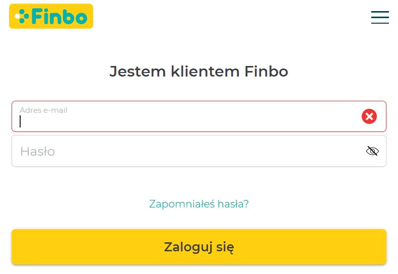 Logowanie Finbo