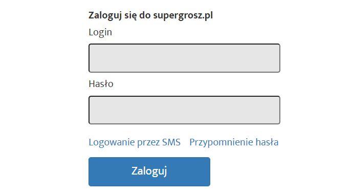 Logowanie Super Grosz